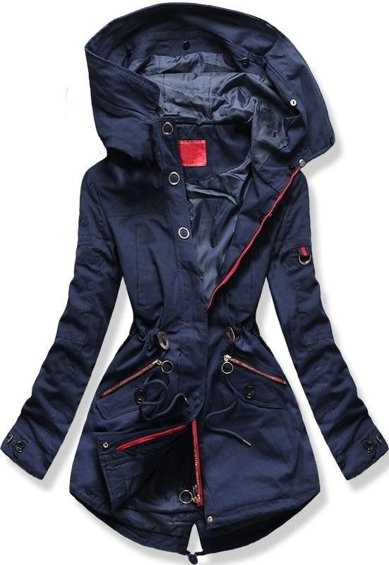 Női téli kabát kapucnival PO-303 sötétkék - Dzsekik - MODOVO f01c3233ef