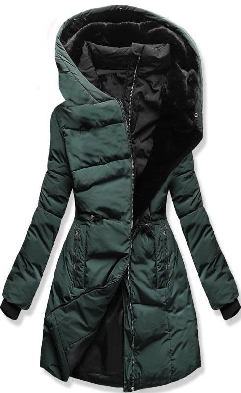 Női téli kabát kapucnival M11 zöld - Dzsekik - MODOVO 0b006bcd72