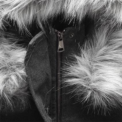 Dlhý dámsky kabát s kapucňou 22172 grafitový - Kabáty - MODOVO 3360aa63876