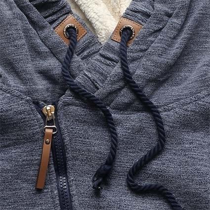 Dlouhá dámská mikina s kapucí D445 tmavě modrá - Mikiny - MODOVO 22c12342b9