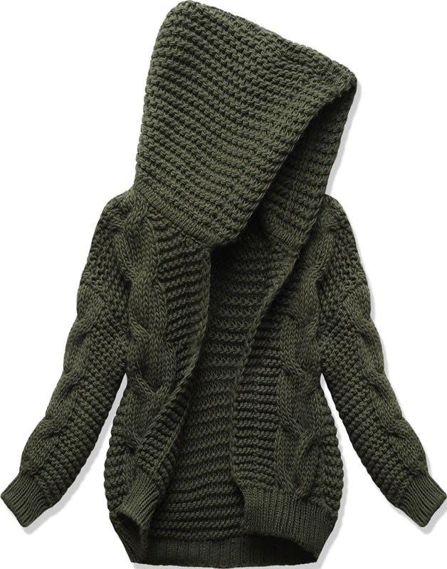 Dámský svetr s kapucí SWEK khaki - Svetry - MODOVO d73c597182