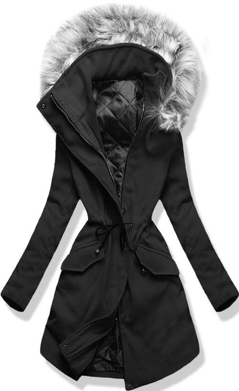 Hosszú női kabát kapucnival 22172 fekete - Kabátok - MODOVO a05ba96be4