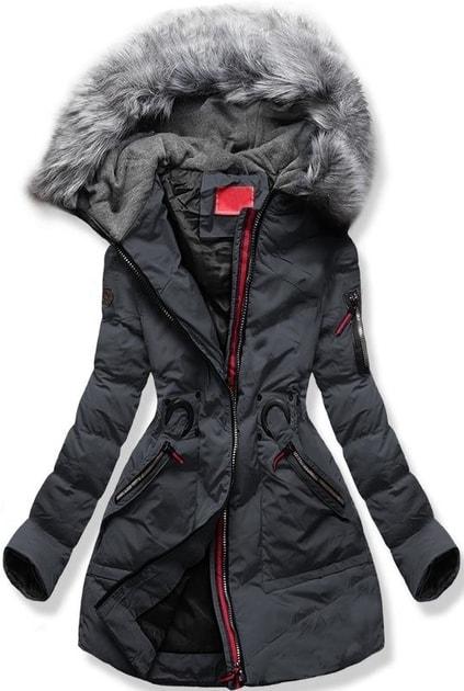 Dámská zimní bunda s kapucí M-9 grafitová - Bundy - MODOVO 25f78441373