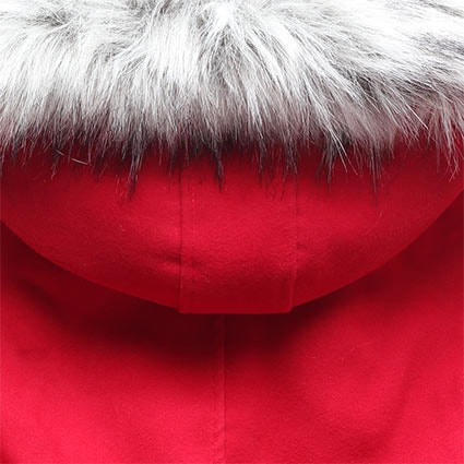 Dlhý dámsky kabát s kapucňou 22172 červený - Kabáty - MODOVO 9237b141172