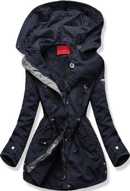 Női téli kabát kapucnival B-73 sötétkék - Dzsekik - MODOVO b85ea8f3ad