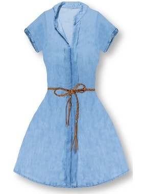 8cee8ce4d02 Dámske šaty 4595 svetlo modré