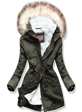 Bunda W166 khaki Bunda W166 khaki Dámska zimná bunda s kapucňou W166 khaki  Dámska zimná bunda s kapucňou W166… Dámska zimná bunda s kapucňou W166 khaki c6fe851c075