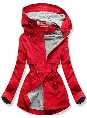 Bunda QL-243 červená Bunda QL-243 červená Dámska prechodná bunda s kapucňou  QL… Dámska prechodná bunda s kapucňou… Dámska prechodná bunda s kapucňou  QL-243 ... f77a6b92076