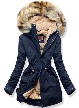 Bunda W164 tmavo modrá Bunda W164 tmavo modrá Dámska zimná bunda s kapucňou  W164… Dámska zimná bunda s kapucňou W164… Dámska zimná bunda s kapucňou  W164 ... 4f96effbe9d