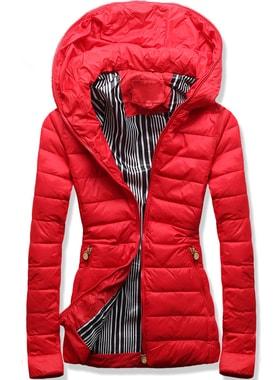 Kabát P06A piros Kabát P06A piros Női steppelt kabát P06A piros Női  steppelt kabát P06A piros Női steppelt kabát P06A piros 8066793e69