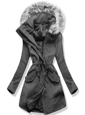 Kabát 22172 grafitový Kabát 22172 grafitový Dlouhý dámský kabát s kapucí  22172… Dlouhý dámský kabát s kapucí 22172… Dlouhý dámský kabát s kapucí  22172 ... cdc205d146
