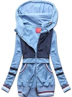 Mikina D425 modrá Mikina D425 modrá Dlhá dámska mikina s kapucňou D425  modrá Dlhá dámska mikina s kapucňou D425… Dlhá dámska mikina s kapucňou  D425 modrá 6514631ac88