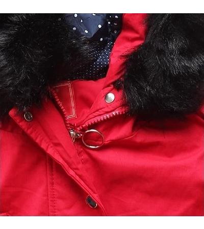 Dámska zimná bunda s kapucňou Q32 červená - Bundy - MODOVO 444056db913