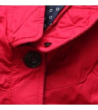 Női téli kabát kapucnival PO-730 piros - Dzsekik - MODOVO 5be26ce9b0