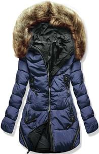 MODOVO Dámska zimná bunda s kapucňou 8816 modrá - L