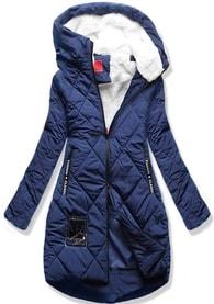 MODOVO Dámska zimná bunda s kapucňou S505 modrá - S