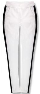 MODOVO Dámské kalhoty 7684 bílo-černé - M