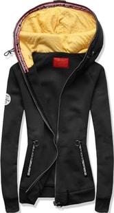 MODOVO Dámská mikina s kapucí D525 černá