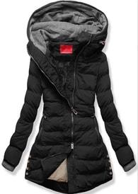MODOVO Dámska zimná bunda s kapucňou S603 čierna - XXL