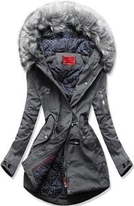 MODOVO Dámska zimná bunda s kapucňou Q32 grafitová - M