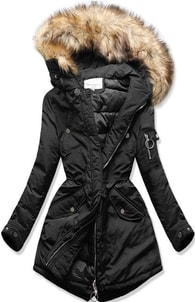 MODOVO Dámska zimná bunda s kapucňou W710 čierna - XXL 865f00703b2