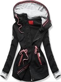 MODOVO Dlouhá dámská mikina s kapucí D543 černá - XL