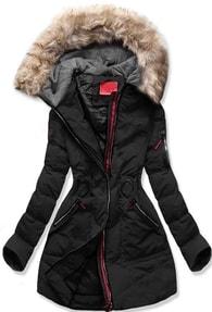 MODOVO Dámska zimná bunda s kapucňou M-9 čierna - XXL dc6cae70a3a