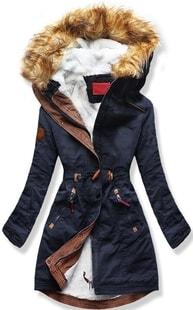 MODOVO Dámska zimná bunda s kapucňou A93 tmavo modrá - L
